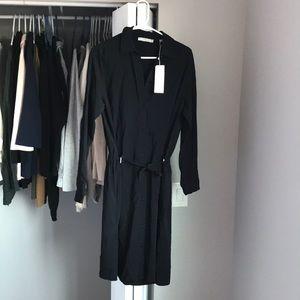 Vince Black Blouse Dress, NWT